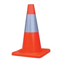 TRAFFIC CONE RUBBER 45CM KERUCUT SAFETY CONE