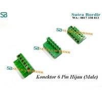 Konektor 6 Pin Hijau Male Bordir Komputer Printing & Industri Lainnya