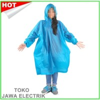Jas Hujan Karet Murah Poncho Ukuran orang Dewasa Bukan sekali pakai