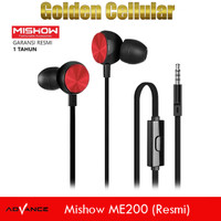 Mishow ME200 Stereo Earphone headset With Mic Garansi Resmi