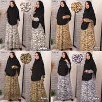 Baju Gamis Syari Syar'i Set Baju Gamis Wanita 3004 Motif Tutul