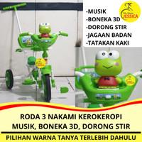 Sepeda Anak Roda 3 (Tiga) Tricycle Nakami Kerokeropi