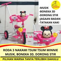 Sepeda Roda 3 (Tiga) Tricycle Nakami Disney Tsum Tsum Minnie Mouse