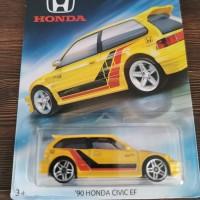 hot Wheels 90 Honda Series Civic EF kuning Hotwheels 2017