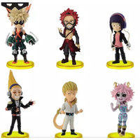 Action Figure My Hero Academia Vol 3 Set Isi 6 pcs / Topper Cake Kue