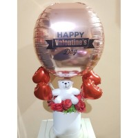 Valentine Edition II Teddy Bear Bloom Box with Hot Air Balloon 2