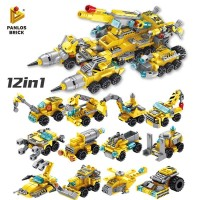 Mainan Edukasi Lego Brick Construction Truck 12 in 1 633019 Konstruksi