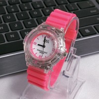 Jam Tangan jelly silikon permen warna transparan