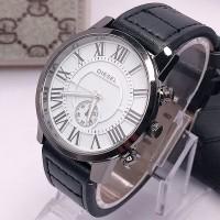 Jam tangan Pria/Cowok Fashion DIESEL tali kulit
