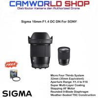 Lensa Sigma 16mm F1.4 DC DN Contemporary Lens for Sony E