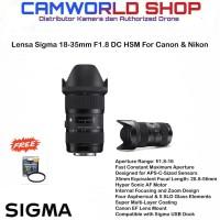 Lensa Sigma 18-35mm f1.8 DC HSM Art For Canon/Nikon
