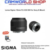 Lensa Sigma 19mm f2.8 DN (Art) for Sony Garansi Resmi