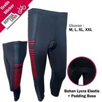 Celana Sepeda Sebetis Ketat Padding Busa Hitam Merah