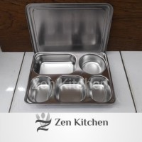 Kotak Makan Lunch Box Food Tray Stainless