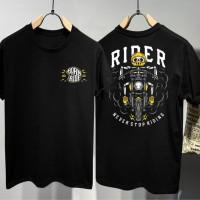 T-Shirt Never Stop Ride / Baju Kaos Distro Pria & Wanita / Cotton 30s