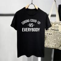 T-Shirt Fight Corona / Baju Kaos Distro Pria & wanita / cotton 30s