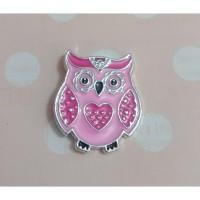 Magnet Jarum - Owl Pink