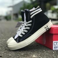 Sepatu sneakers Converse OFF white black premium made in vietnam