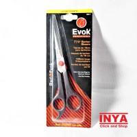 GUNTING RAMBUT RED EVOK 663 - 7.5 inch PROFESSIONAL BARBER SCISSORS