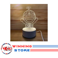 Lampu Aclyric / Akrilik 3D Hiasan meja LED Karaker Kado Unik - WS