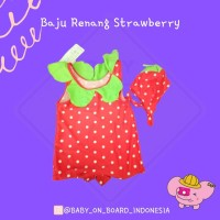 Baju Renang Strawberry Dudu Mumu
