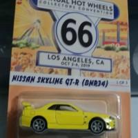 Hot Wheels Nissan Skyline GT-R R34 BNR34 kuning convention hotwheels