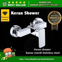 STOP KERAN SHOWER KAMAR MANDI STAINLES STEEL AIR PANAS DAN DINGIN