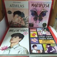 Paket empat novel athlas mariposa mozachiko surat cinta tanpa nama