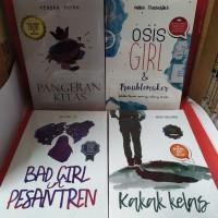 Paket empat novel pangeran kelas osis girl dan troublemaker kakak kela