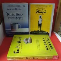 Paket tiga novel andrea hirata guru aini orang orang biasa buku besar