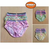 Celana dalam anak perempuan ( isi 6 pcs ) Golden Nick 057 print warna