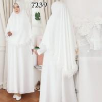 Gamis Putih Premium / Gamis Lebaran / Gamis Syari / Gamis Pesta