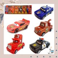 MAINAN ANAK LAKI LAKI MOBIL MOBILAN CARS ISI 5PCS HIASAN KUE ULTAH