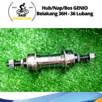 Hub Genio / Bos Sepeda / Nap Belakang Genio L36 - Lubang 36