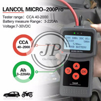 LANCOL Micro-200Pro Digital Battery Tester & Annalyser Tes Accu