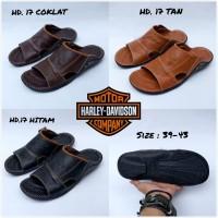 SANDAL SLIP ON HARLEY DAVIDSON KULIT