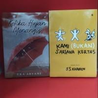 Paket dua novel ketika hujan menangis kami bukan sarjana kertas