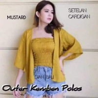 Set Outer Polos Cardigan dan Kemben
