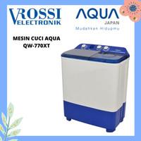 MESIN CUCI AQUA 2 TABUNG 7KG QW 770XT