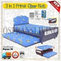 Guhdo Springbed Anak 3 In 1 Prima Clever Kids Fullset Kipas