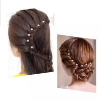 Hairpin Bunga Mutiara Kristal Aksesoris Sanggul Pesta Pengantin H42 thumbnail