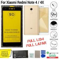 Tempered Glass Xiaomi Redmi Note 4 / 4X anti gores 9D full cover layar