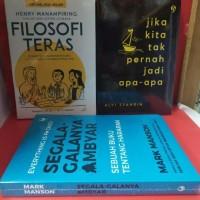 Paket tiga buku filosofi teras jika kita tak pernah jadi apa apa segal