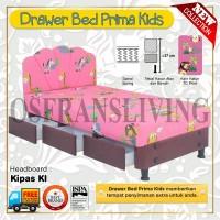 Guhdo Springbed Anak Prima Kids Drawer Laci Fullset Kipas