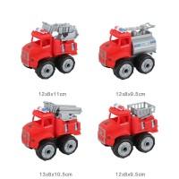 4pcs DIY Mobil Pemadam Kebakaran Fire Trucks Mainan Anak Laki Laki