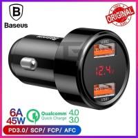 BASEUS Car Charger Aurora Dual Port USB Qualcomm 4.0 QC 3.0 SCP FCP PD