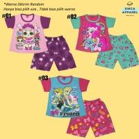 Setelan Baju Anak Cewek Perempuan Kombinasi (Kaos Celana) - Katalog