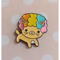 Magnet Jarum - Kucing Kuning
