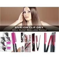 Sisir Ion V/Sumpit /Ionic Hair Straghtener Comb/Sisir Pelurus Rambut