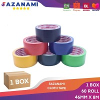1 Box LAKBAN KAIN 2 INCH X 8M SAZANAMI CLOTH TAPE WARNA #JNE TRUCKING